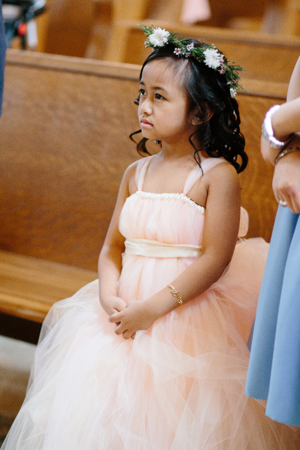 wedding flower girl floral crown