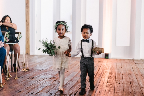flower girl and ring bearer wedding inspiration