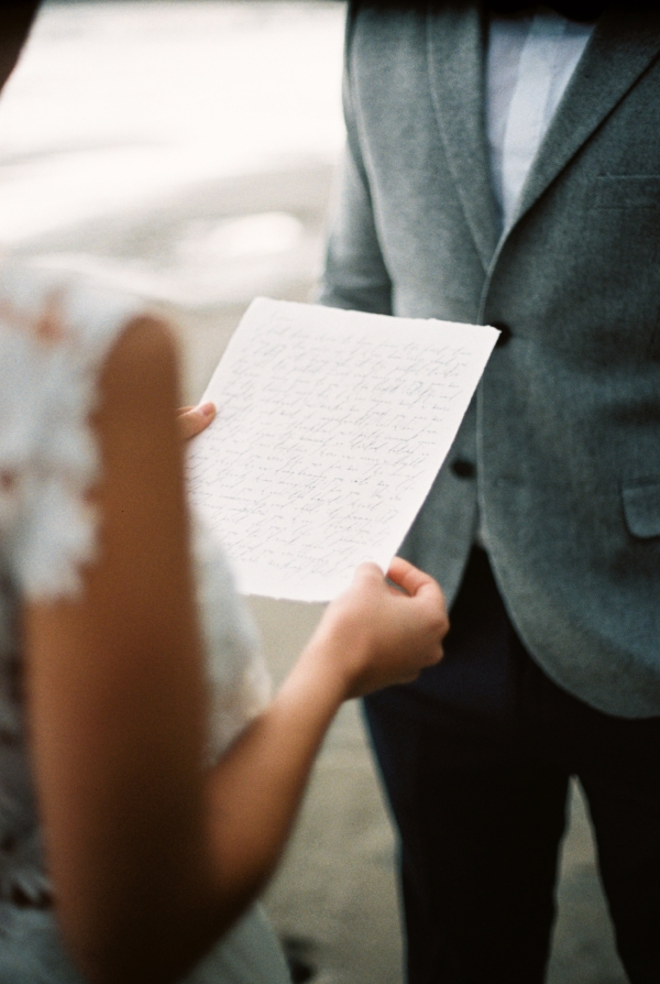 Intimate and romantic oregon coast elopement