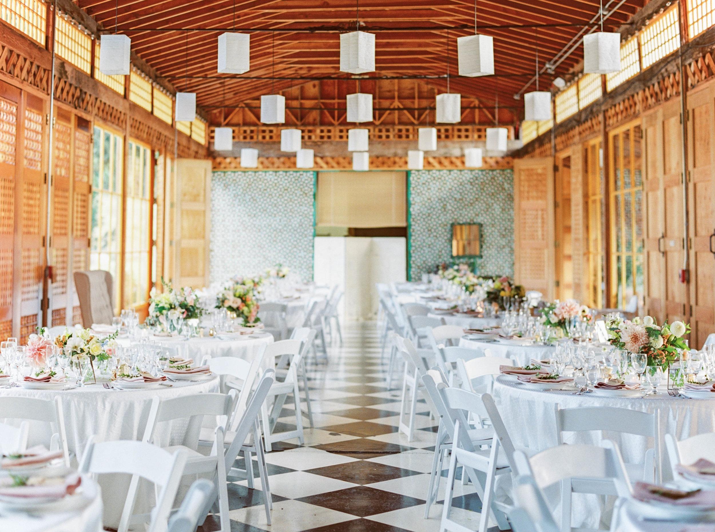 mt hood organic farms wedding reception with pink flowers by oregon florist foraged floral.jpg