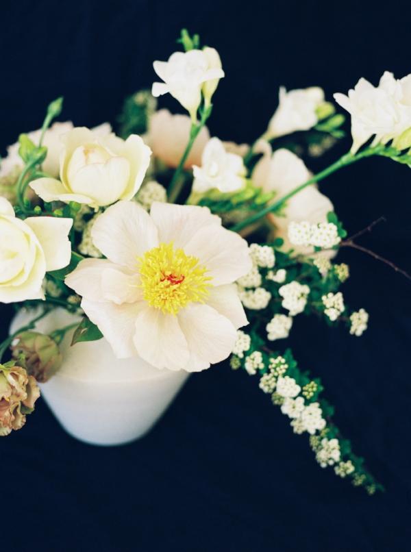 Portland Oregon Wedding Florist, Foraged Floral, peony flower centerpiece in the spring.jpg