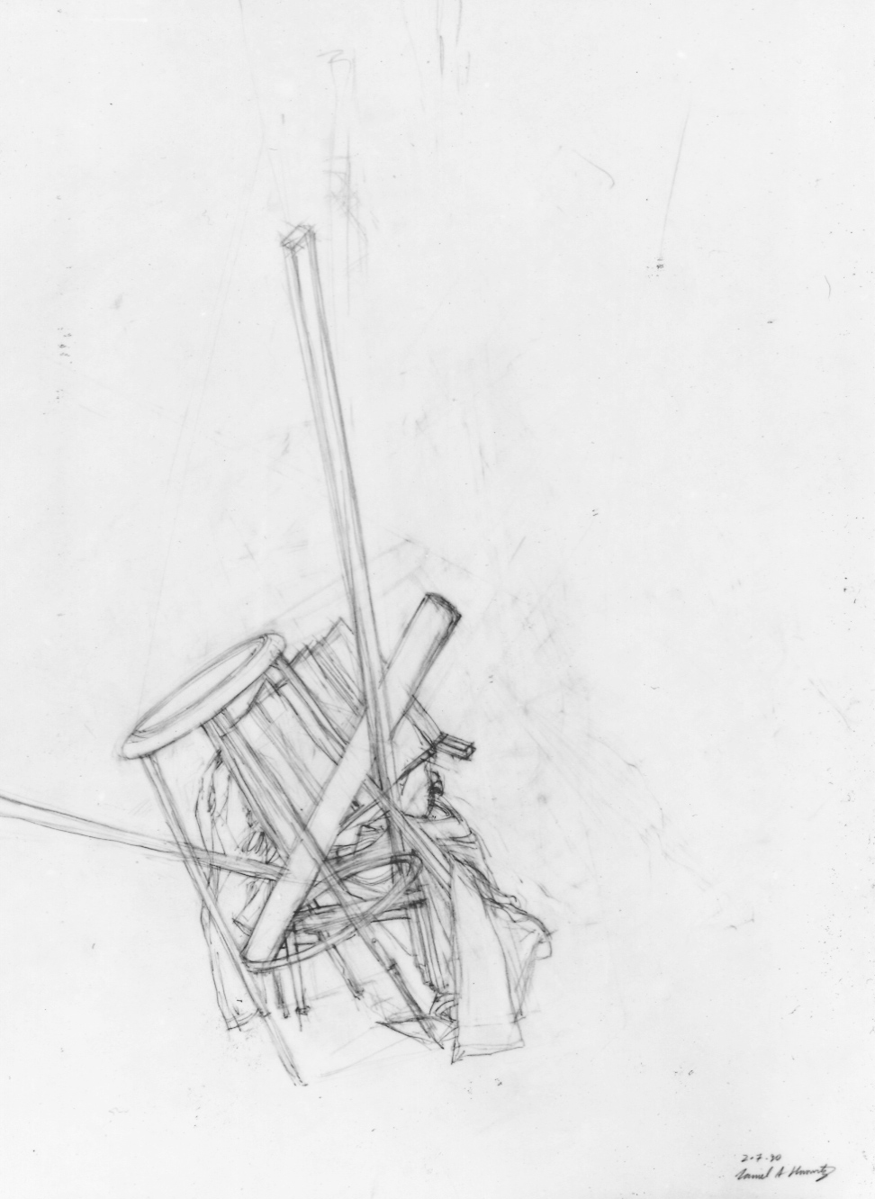 UPenn Still Life Sketch: Graphite on Paper. 1990