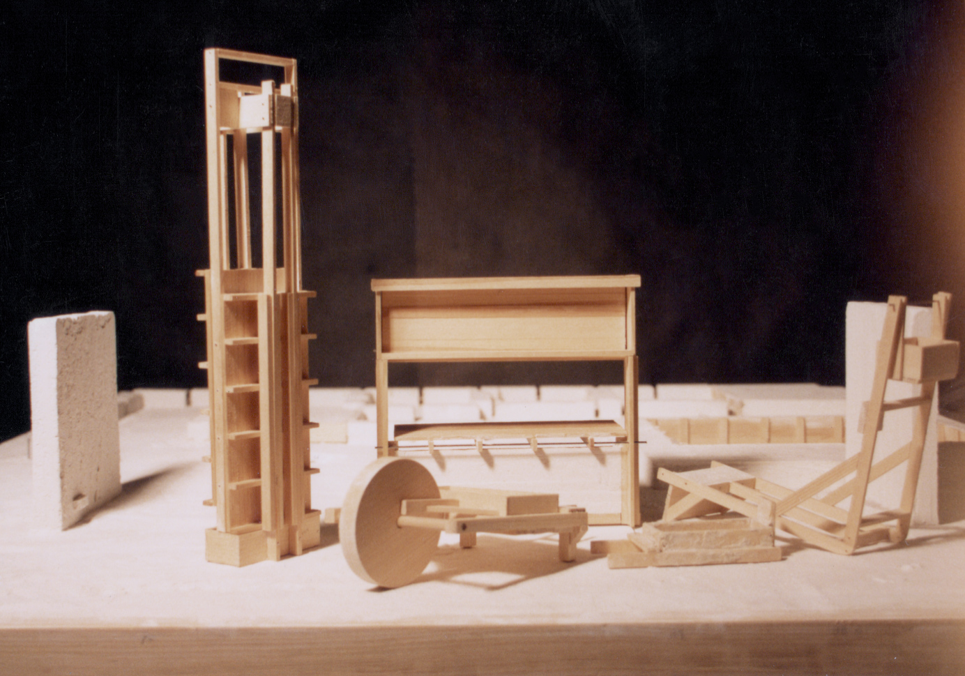UPenn Integrated Design Thesis: Wood and Plaster Experiment 6. 1992