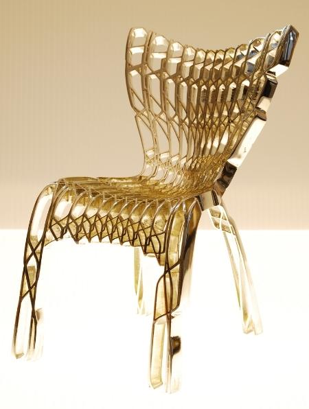 CoreFab#116_25 Chair, 2008. Produced using a 3D printer.