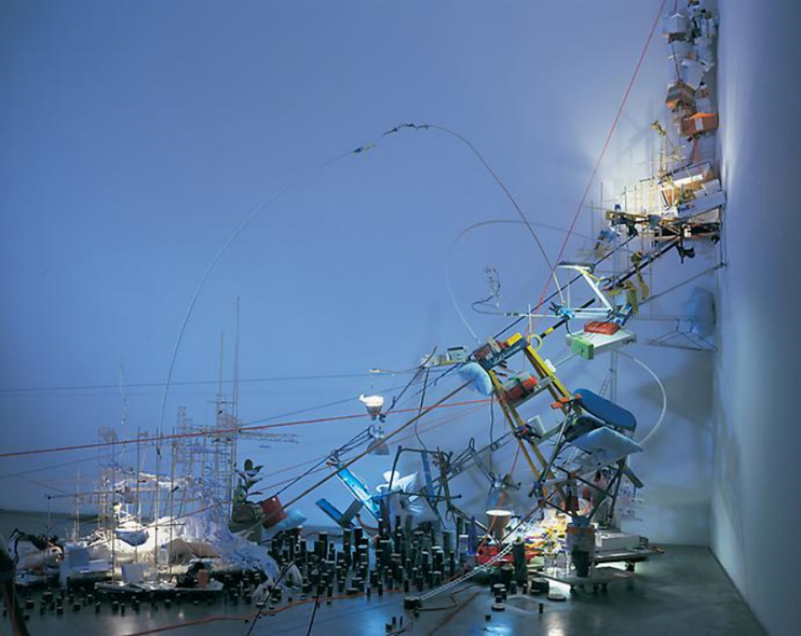 Sarah Sze,  A Certain Slant , 2007, mixed media, dimensions variable