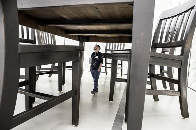 Under the Table by Robert Therrien_The Broad Press Preview_Annie Lesser_Sept 16 2015.jpg