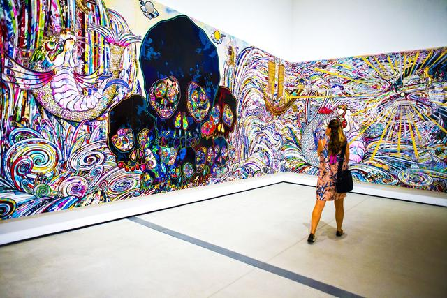 In the Land of the Dead Stepping on the Tail of a Rainbow by Takashi Murakami_The Broad Press Preview_Annie Lesser_Sept 16 2015.jpg
