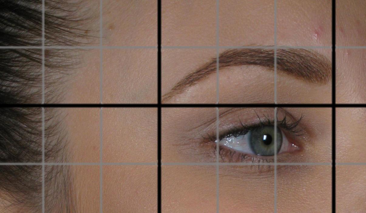 Eyebrow mapping example