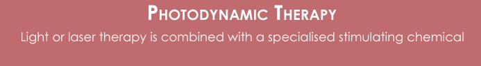 Photodynamic therapy button