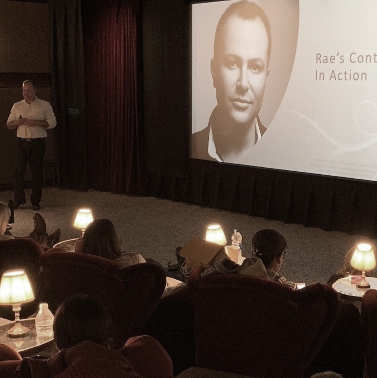 - Mike presenting for FaceCoach in Chicago earlier this year.