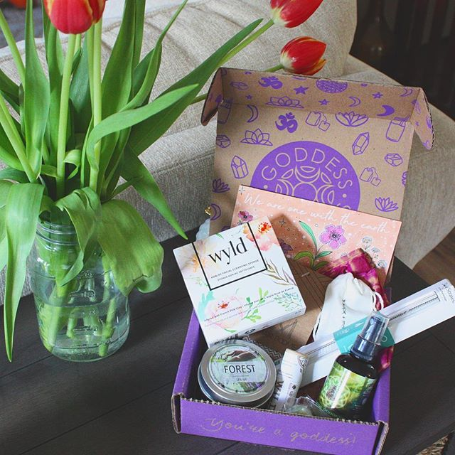 You guys!!! As I move through winter into spring, my nausea 🤰🏻 is getting slowly better and I have to say, this month's #goddessbox is filled with soothing goodies to usher in all those new, fresh, good feels! I'm especially excited about the candle and the eco-friendly reusable straw! The straw is like those ones that come with a reusable iced coffee tumbler, except it's good for the environment and even COMES WITH A TINY CLEANER to keep it clean and bacteria free! 😍😍😍 As someone entering nesting mode pretty hard right now, I am obsessed with this!!!! 🌷 I hope you all are having a smooth transition into Spring, and if you're trying to #treatyoself —definitely check out @goddessprovisions latest box!! . . . #goddess #selfcare #subscriptionbox #positivevibesonly #springtime #pregnant #20weekspregnant #rainbowbaby