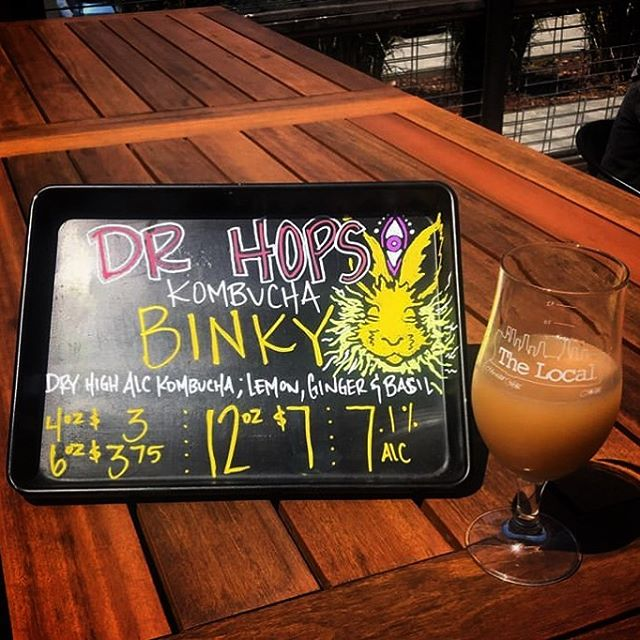 "Happy Sunday, folks! The Binky is *always* a good choice 😉 🍻 — #Repost @localciderbar ・・・ The clouds have broke and the sun is out!! Stop in and enjoy our newest addition to the tap list @drhopskb ""Binky"" it is a Dry Hard Alcoholic Kombucha that has Lemon, Ginger and Basil. . . . . . Art by @tun_af_art88 . #pickcider #boardart #humboldt #thelocal #ciderbar #arcata #sunshine #theplaza #binky"