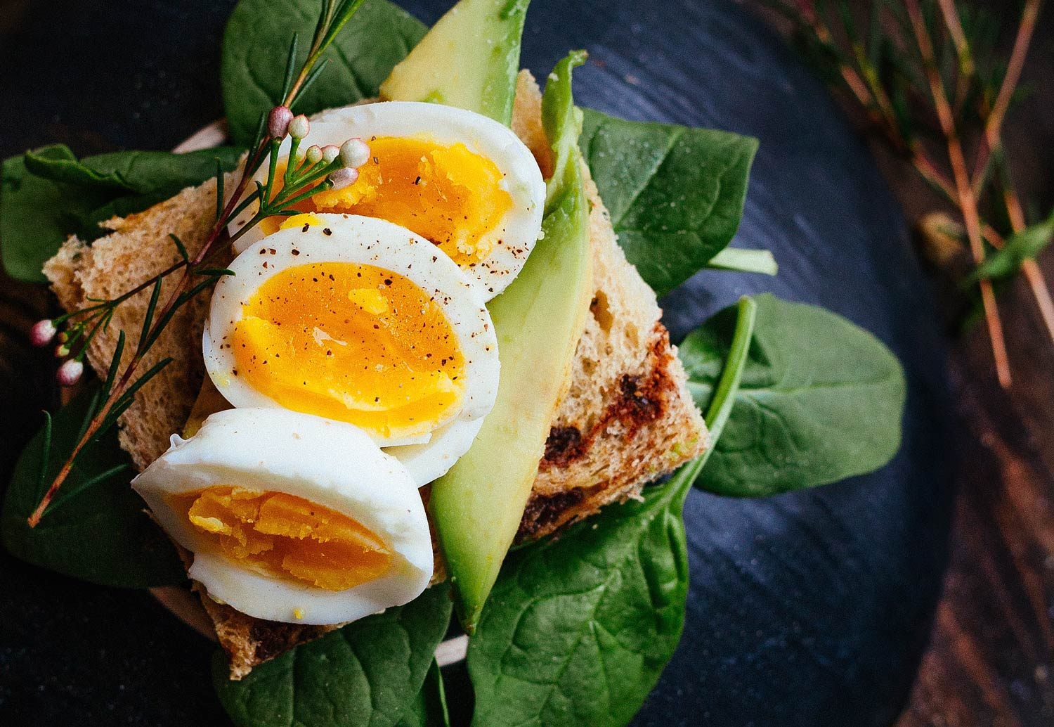 spinach, avocado + eggs - we call this our power-protein toast& it's the perfect post workout meal.