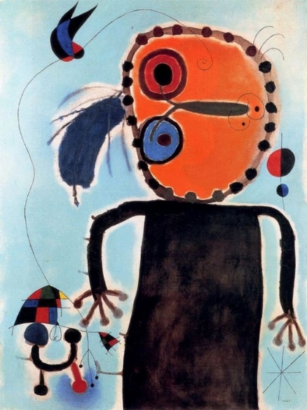 Le disque rouge chasse Alouette  by Joan Miró