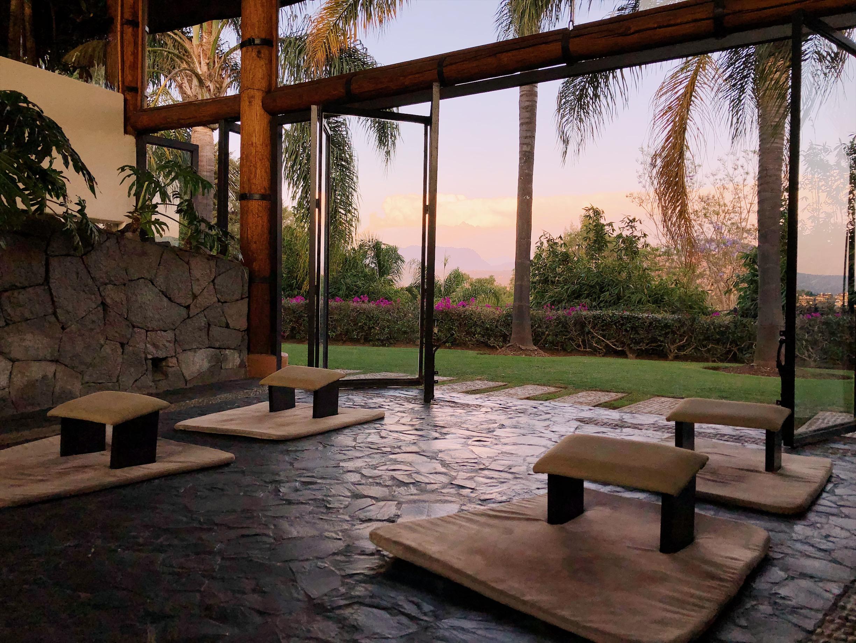 Quiet meditation space at El Santuario Resort