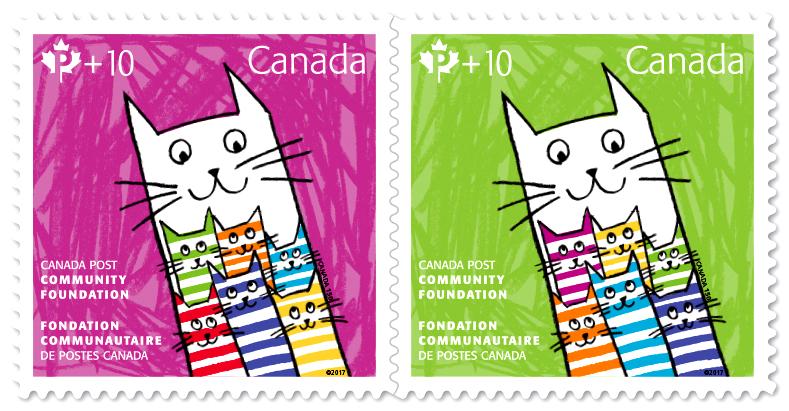 The unique double palette stamp designs