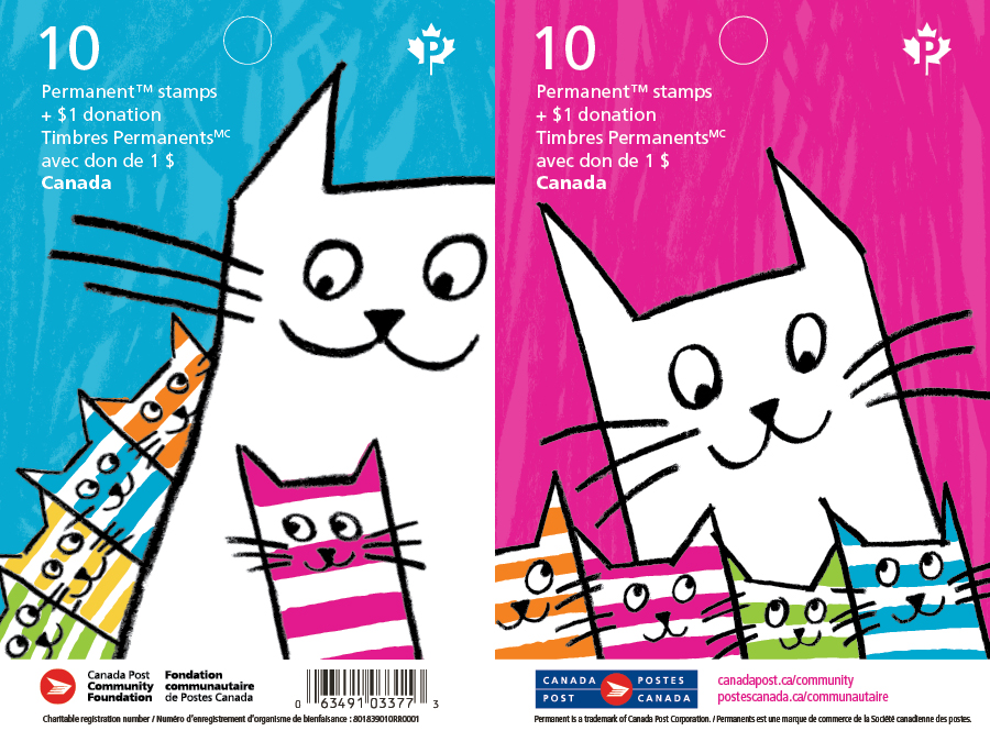 The collectible double cover stamp booklets