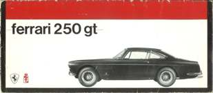 "Ferrari  1963   A 15"" wide Series III brochure."