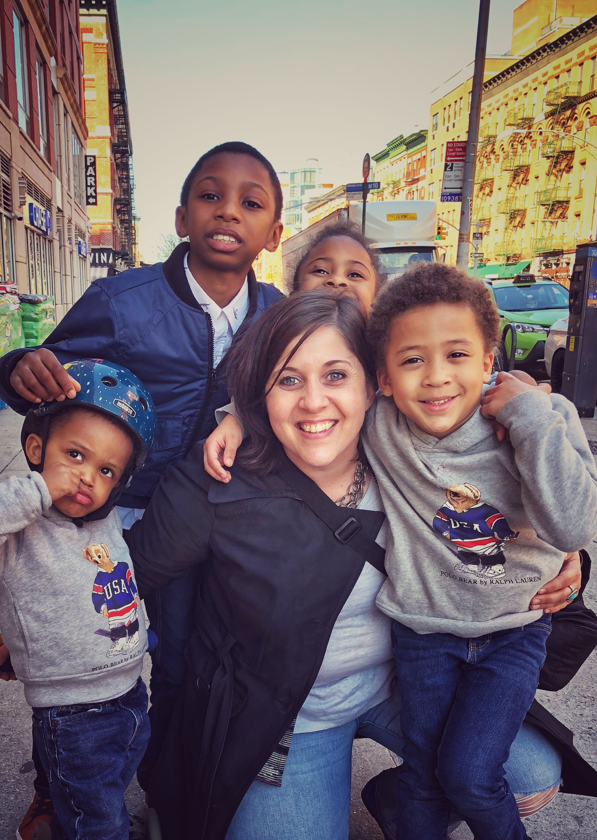 Harlem | NYC | Walking allows me to be present in my community and to have unexpected moments of running into the people that I love including these little people
