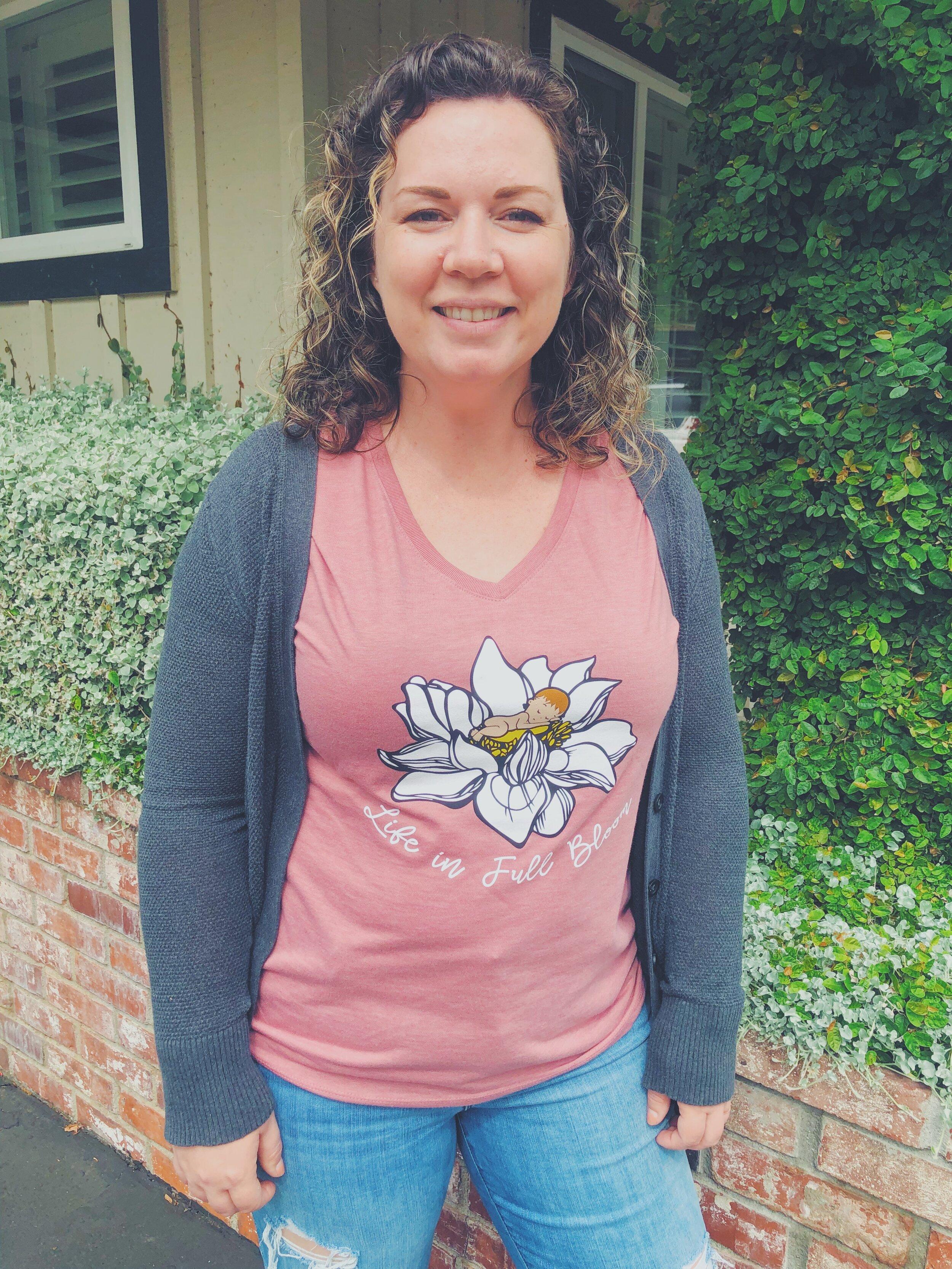 Women S Blush Frost W4l Shirt Womens Resource Clinic