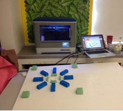 Students turned CAD design into a 3D model using Dremel IdeaBuilder 3D Printer