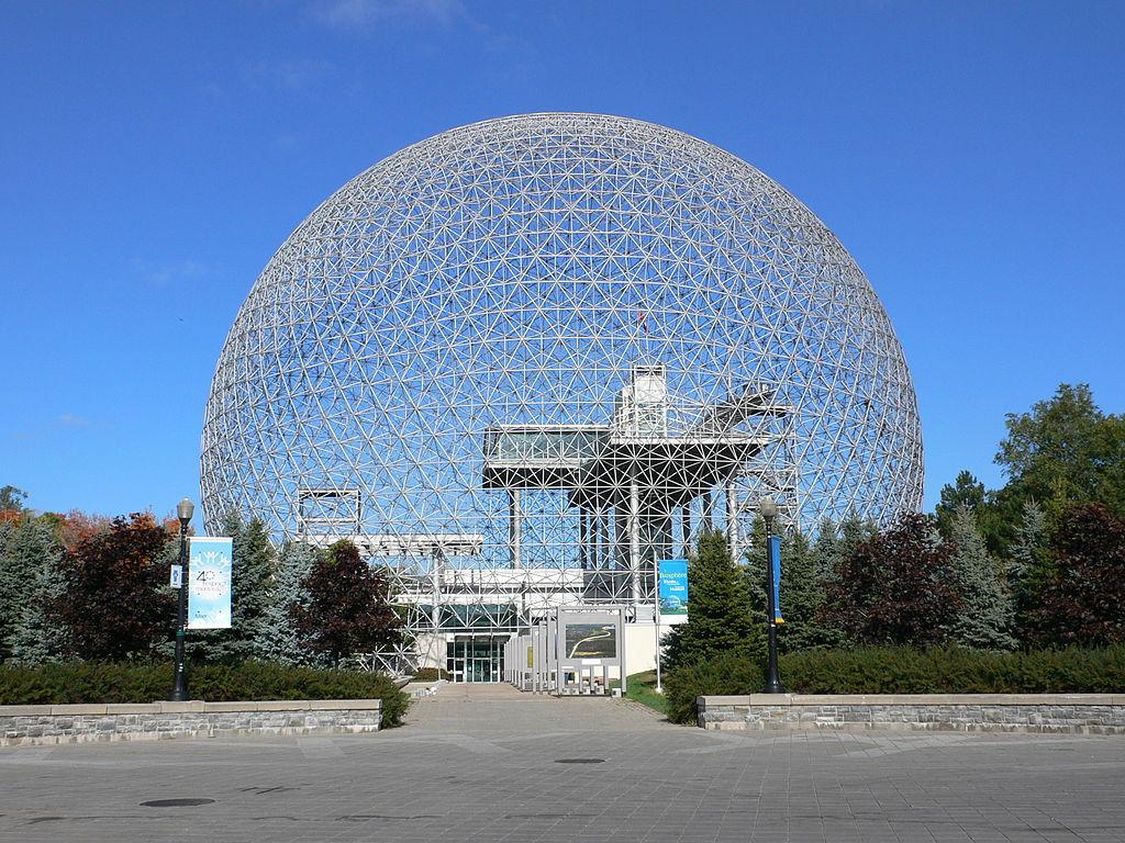 Image - Montreal Biosphere, 1967. (Architect: Buckminster Fuller).