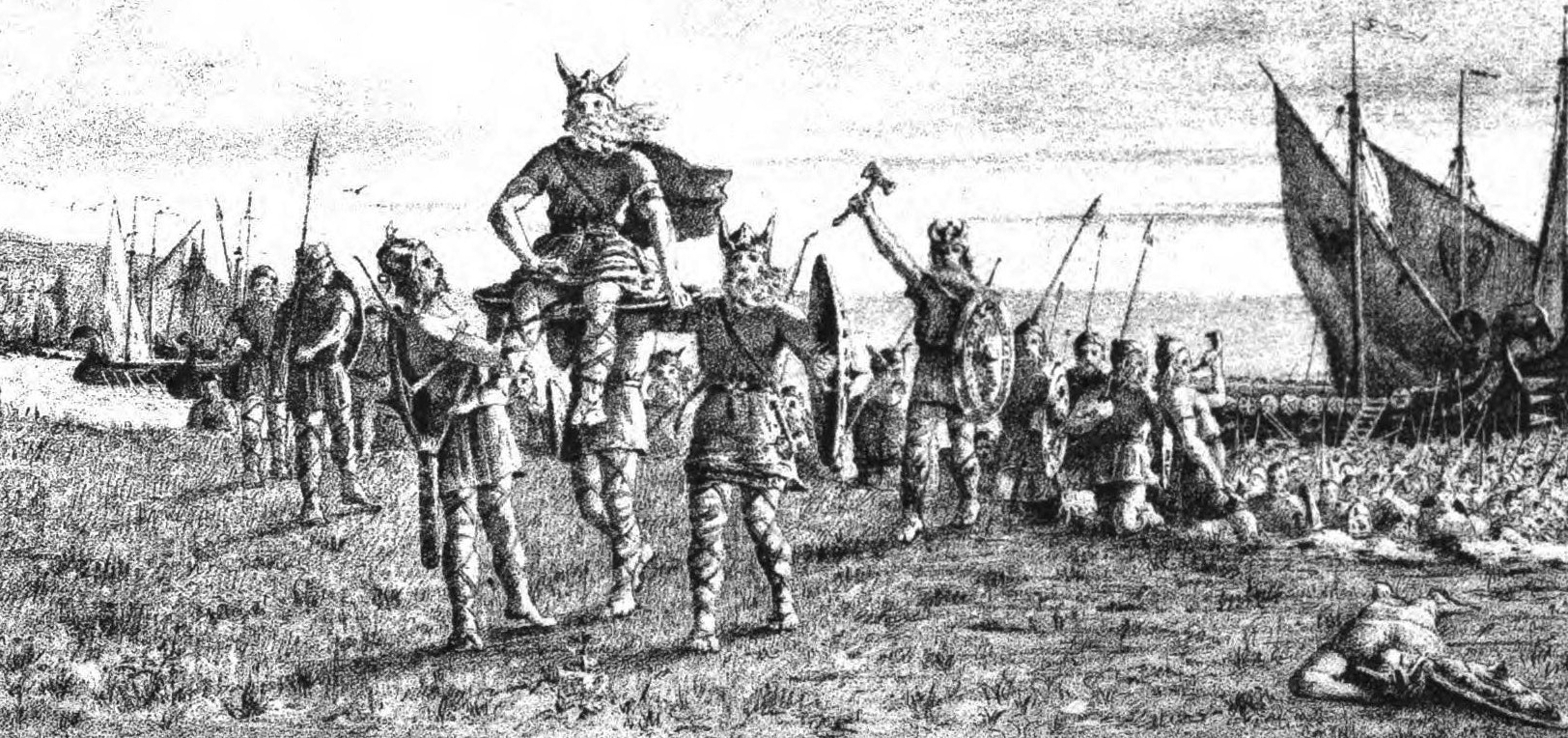 Romanticised nineteenth-century depictions of Godred Crovan.