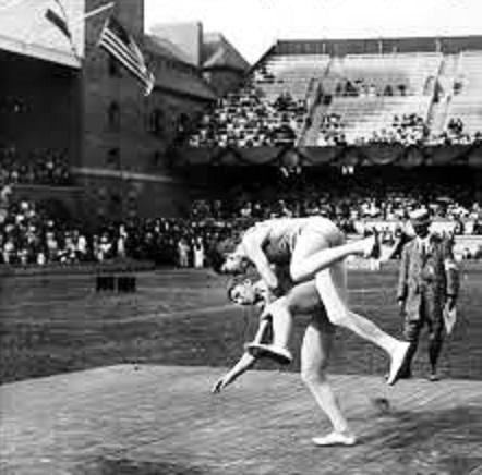 GLÍMA AT OLYMPICS - STOCKHOLM 1912