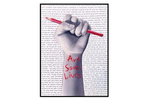 Art Saves Lives Print $8.00