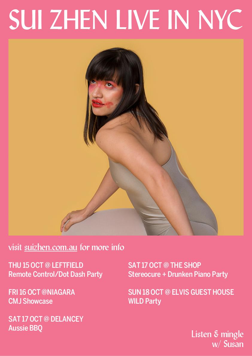 CMJ Showcases in New York, come listen & mingle with Susan! xo