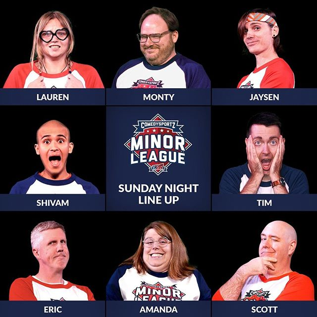 Here is your CSz Minor League Sunday night lineup for July 21st, 2019. Join us for a night of laughter as the San Francisco Snorty-Niners face off against the San Jose Mirthquakes!⁠ ⁠ ⁠ #cszminorleaguesj #cszminorleague #cszsanjose #cszworldwide #comedysportz #minorleague #comedysportzsanjose #comedy #improv #livecomedy #sanjose #haha #lol #laugh #chortle #guffaw #comedyforeveryone #sundayfunday #snortyniners #mirthquakes