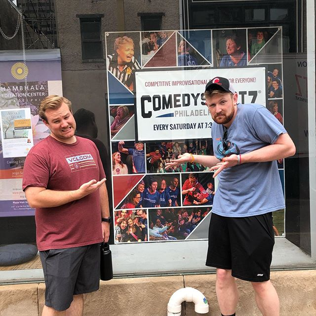 We are so excited to visit @cszphilly !  Thanks for being such a great host.  #cwc2019 #improv #improvfamily