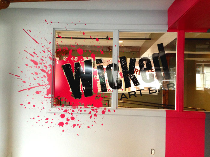 Wicked Art Bar Wall and Window