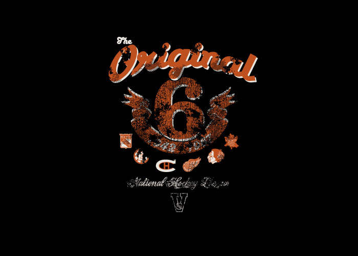 Old Time Sports - Original 6 Bedlam Tee Graphic
