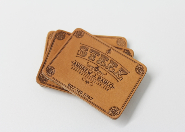 Steez Leather Business Card
