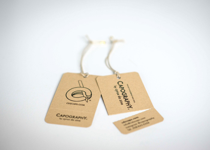 Capography Perforated Hand Tags