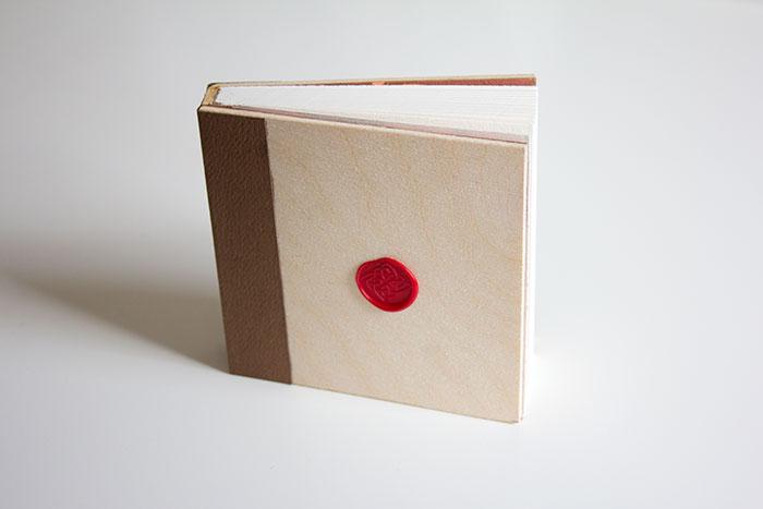 Handmade Wood Cover Book