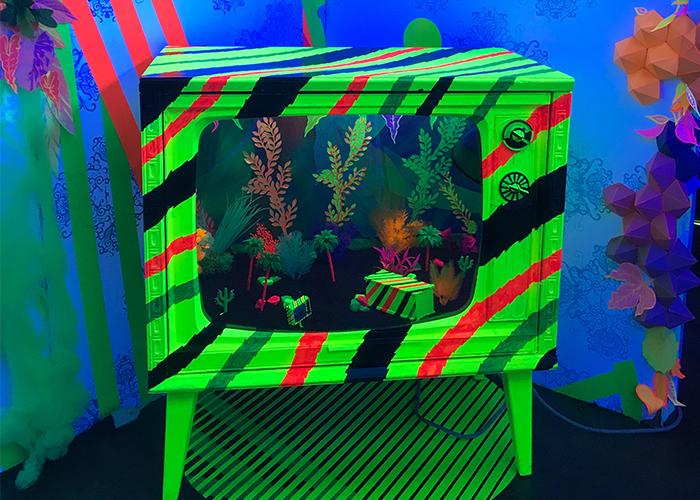 Neon Dream TV Scorpion Terrarium