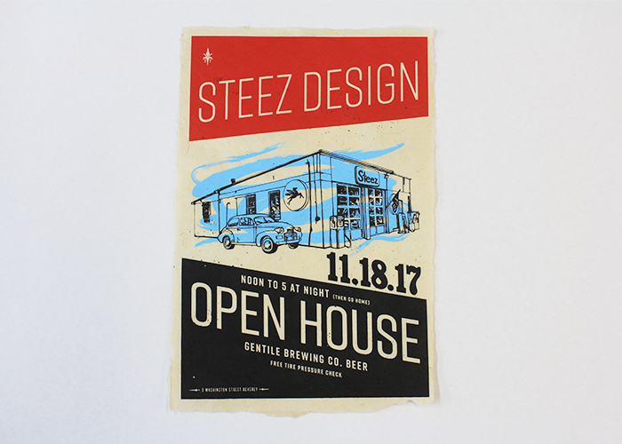 Steez Open House Poster