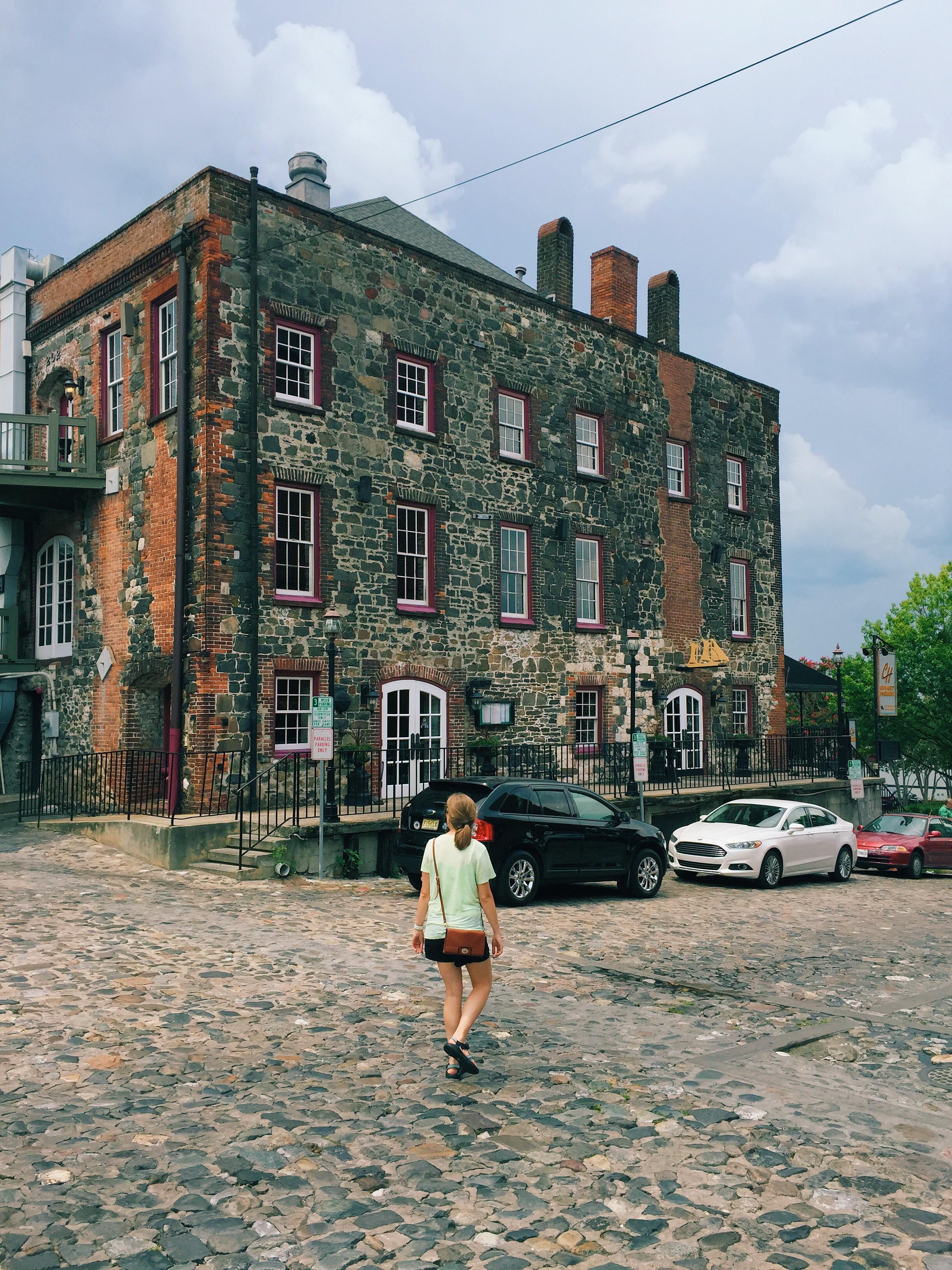 River walk in historic Savannah