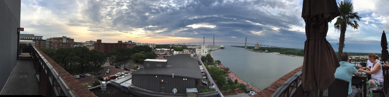 Sunset over Savannah