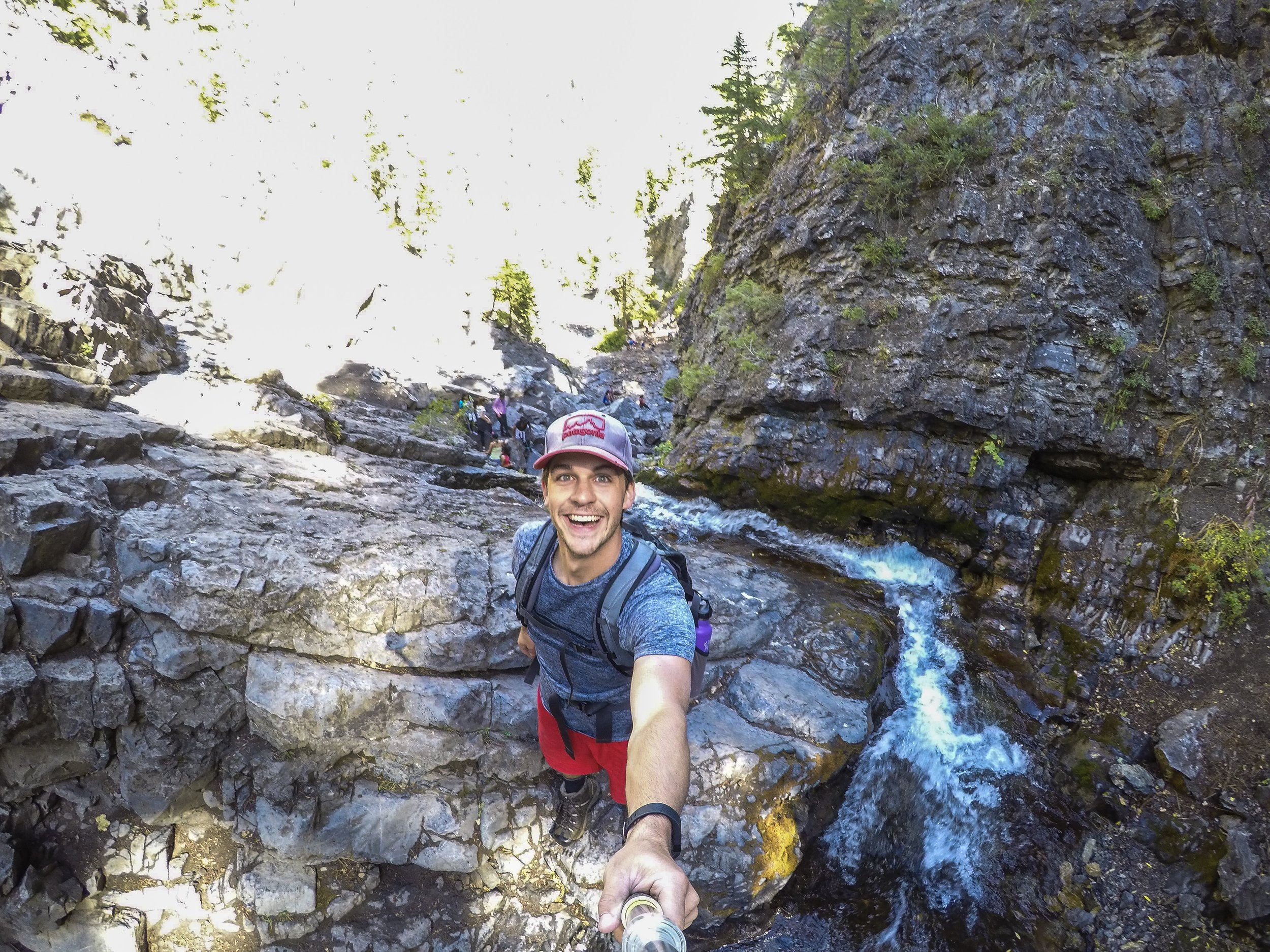 Cody above Donut Falls