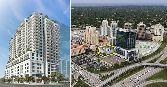 Allegro Dadeland - Service - National Green Building Standard Certification: Multi-Family (NGBS Gold)218,573 sq/ft 216 unitsAt 22 stories high, overlooking the Miami-Dade skyline, this 55+ living facility has all the features of a resort. Allegro Dadeland, formerly built by Greystar as Dadeland Overture, is now open and is one of Miami-Dade's most prestigious senior living facilities. Even though this structure is a high rise in the middle of a bustling city, the design of the apartments gives it a spacious and social feel. In order to make you feel right at home, Allegro provides you with many amenities such as multiple dining venues that can be catered to your own desires, a sixth-floor pool terrace for lounging or lap swimming, and a glittering skyline view that can be enjoyed with a glass of wine from Allegra's Bar 22 on the top floor. Residents may choose from a one-, two-, or three-bedroom option, and each of these options is customizable for the most comfort possible. In addition to these benefits, the 22-story high rise is certified National Green Building Standard (NGBS) gold for its excellence in sustainable construction and management and has maintained energy savings of 30.3% compared to 2009 IECC baselines.