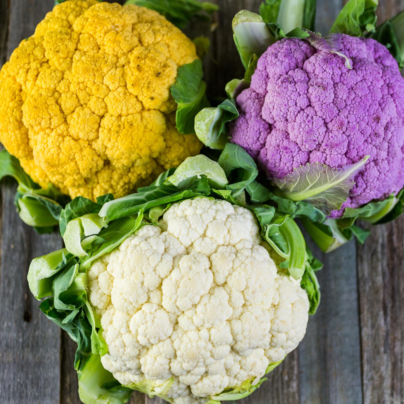 fresh colorful cauliflower