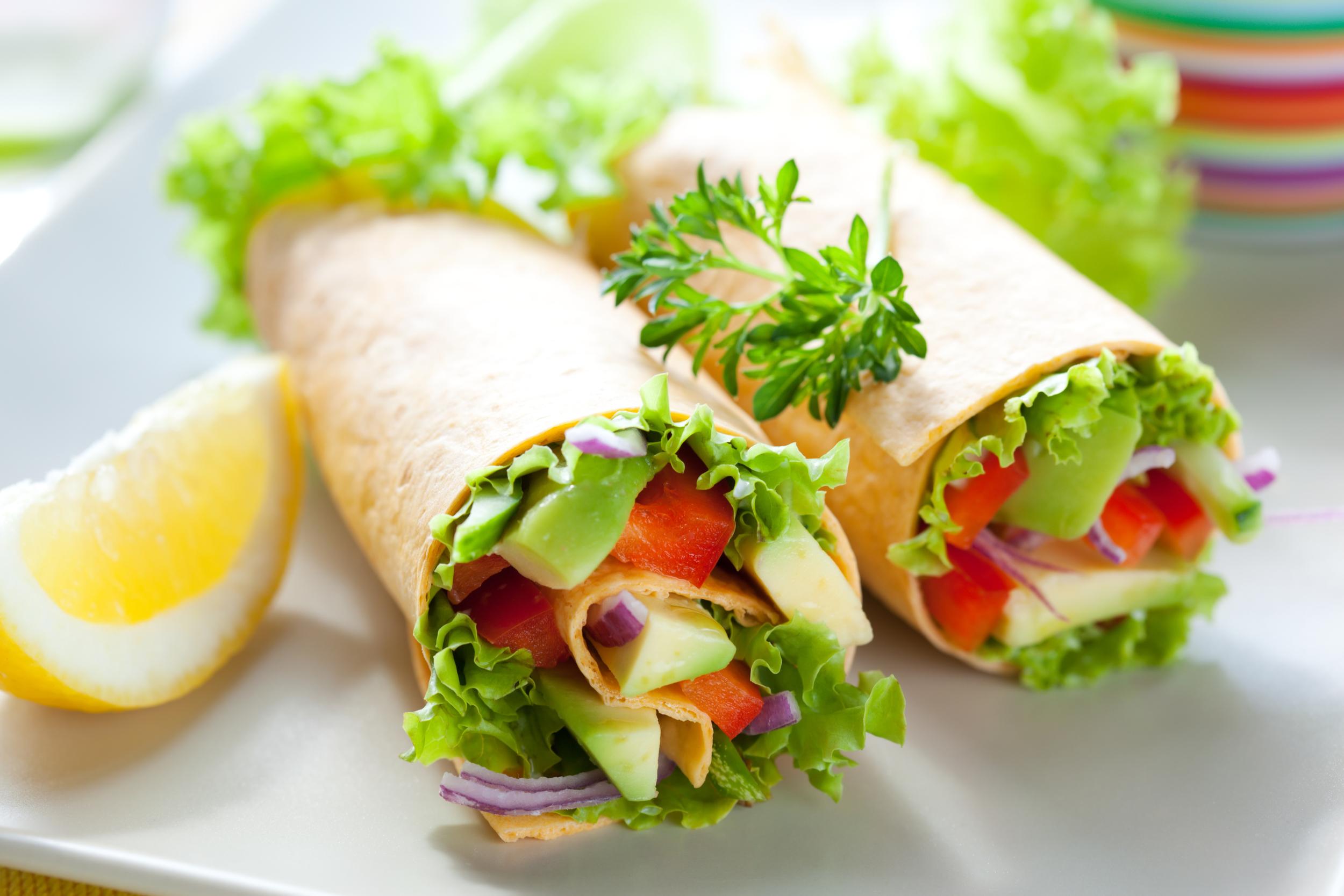 vegetable vegan wraps