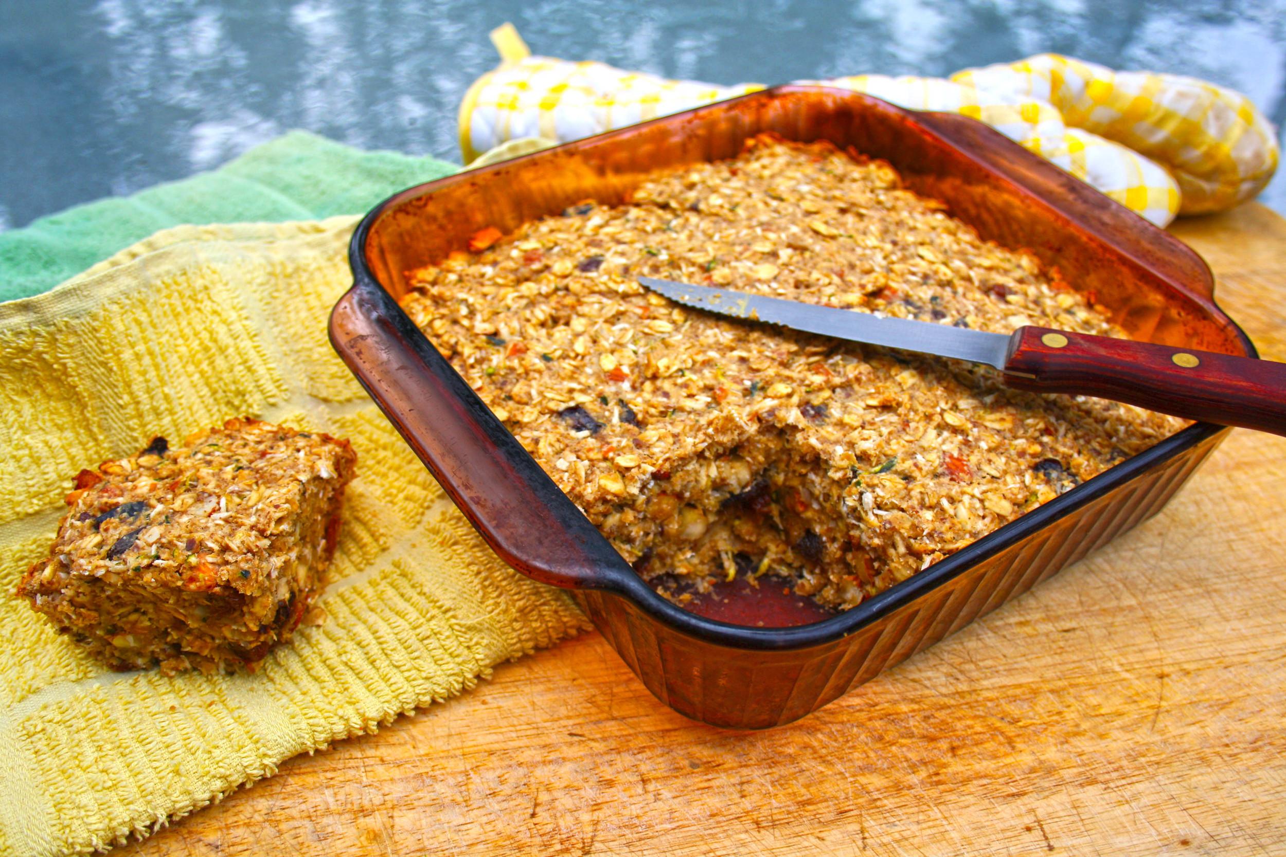 oat and fruit vegan power bars