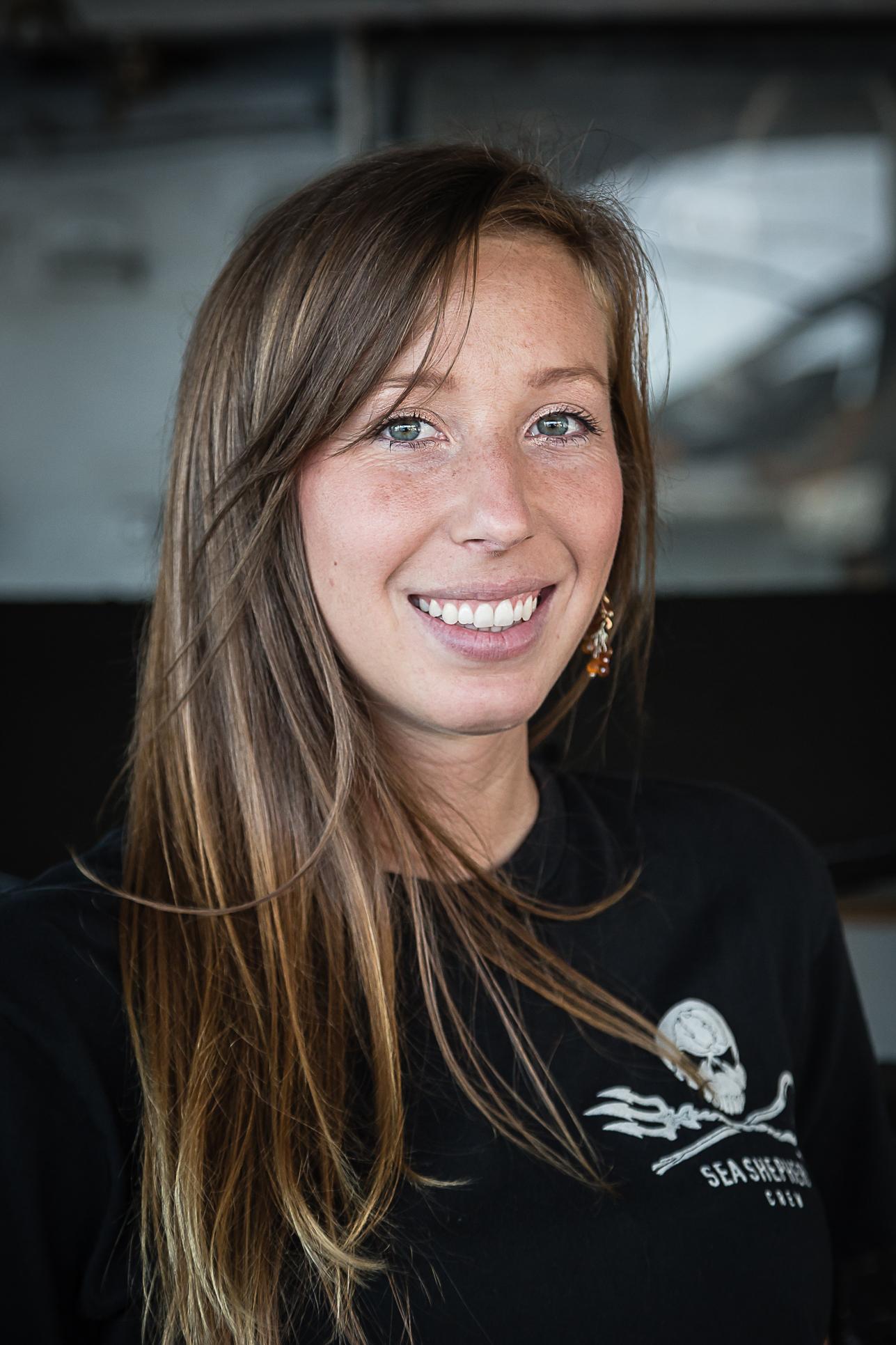 Katie's Sea Shepherd crew mug shot