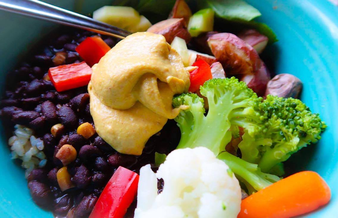 YUMM Sauce on leftovers and steamed frozen veggies! We also use Yumm sauce as a dressing!