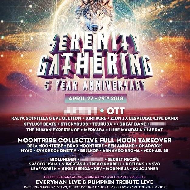 serenity lineup 2018