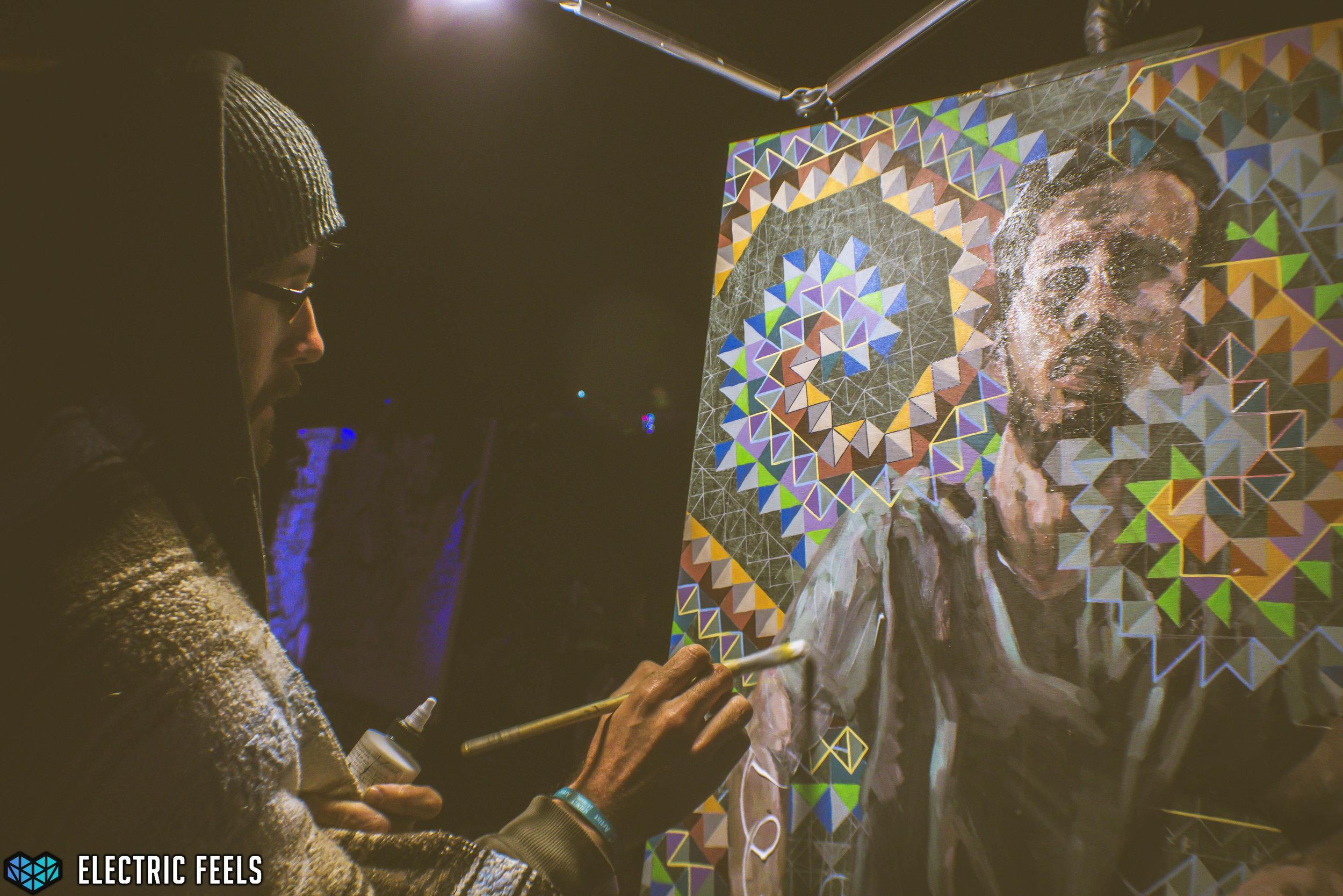 A live painter manifests a visionary portrait  Photo Credit: Colin Eldridge